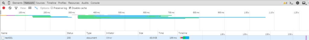 Timeline with caching
