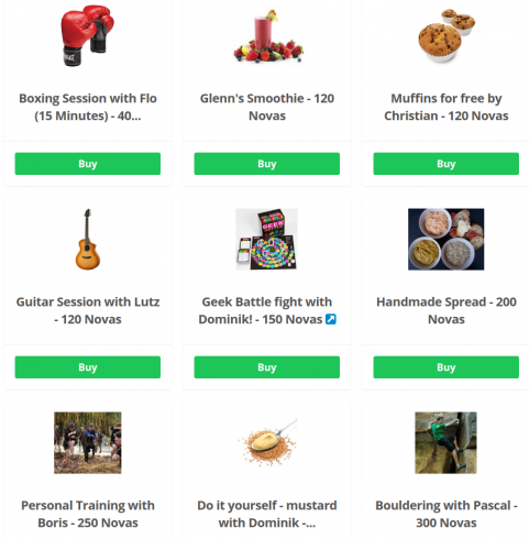 Custom Bonusly rewards from Novatec members