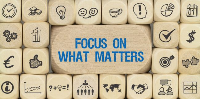 Value Focus: Focus on what matters