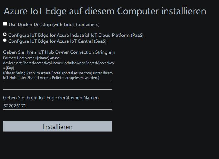 Azure IoT Edge On Premise Installation