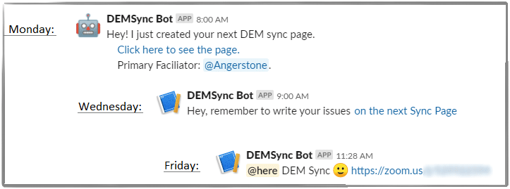 slackbot messages per week