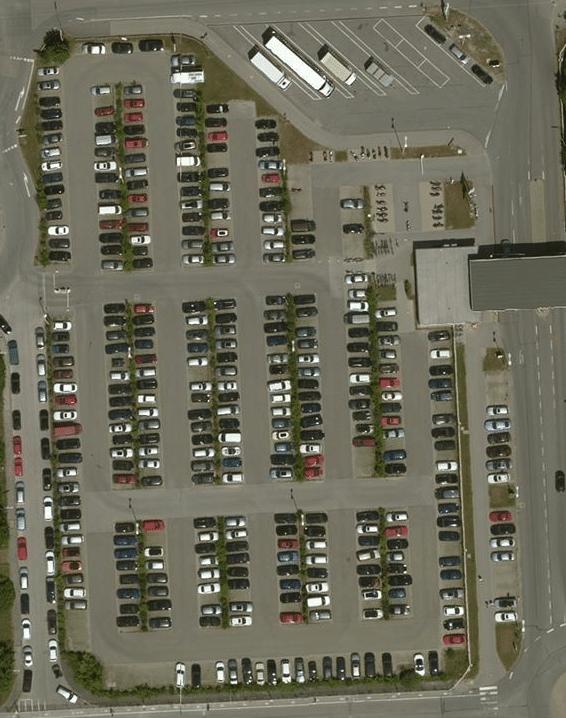 Screenshot eines Parkplatzes von Bing-Maps
